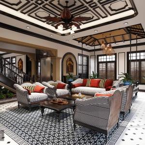 Thiết kế nội thất biệt thự cổ điển hoài niệm, cổ kính, sang trọng