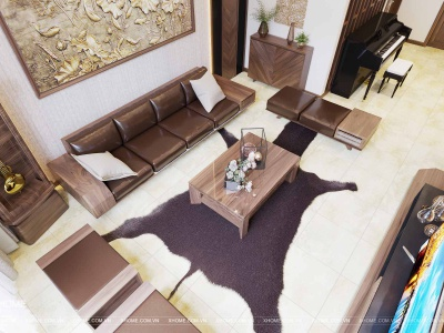 Thiết kế nội thất phòng khách đẹp, hiện đại và tinh tế